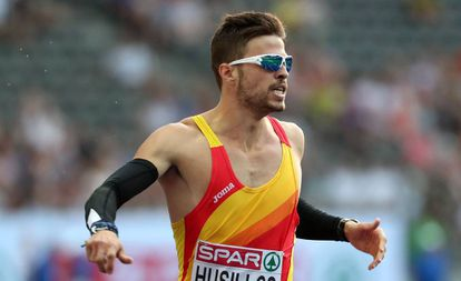 Husillos, en una de las series de los 400m de los Europeos de Atletismo de Berlín.