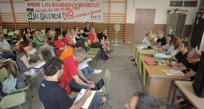 Encuentro de plataformas educativas celebrado ayer en Valencia.