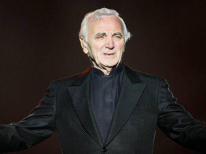 Charles Aznavour en el Festival de Quebec, en 2008.