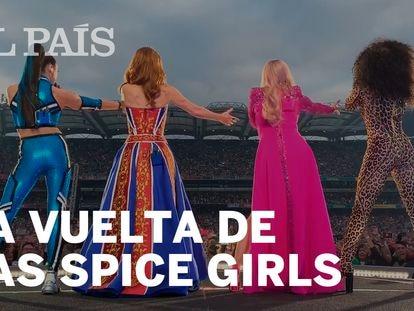 Las Spice Girls durante su concierto en Dublín el 24 de mayo. En vídeo, los mejores momentos de la gira.