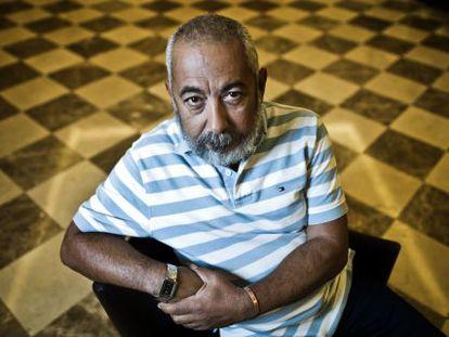 El escritor Leonardo Padura, en Madrid.