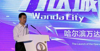 Wang Jianlin, en la inauguración de un complejo turístico de Wanda en la ciudad china de Harbin.