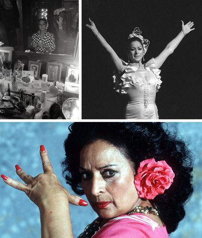 En el camerino del teatro Victoria de Madrid, en 1979; en 1983, durante la representación de 'La Casta' en Madrid; y en abril de 1994.