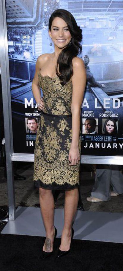 Génesis Rodríguez en el estreno de 'Al borde del abismo', el 23 de enero en Los Ángeles.