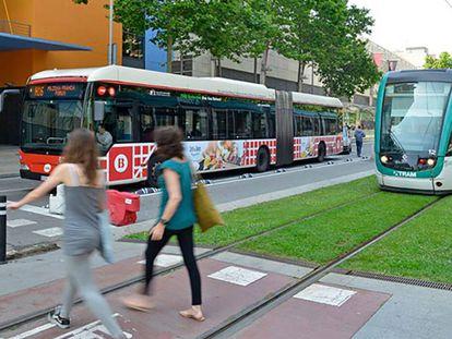 El tranvía de Barcelona