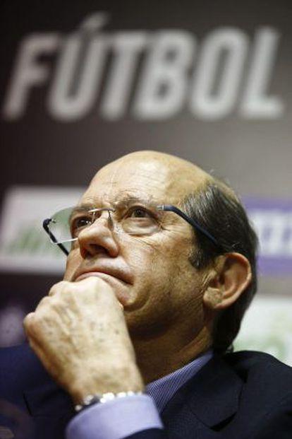 Manuel Llorente, durante la rueda de prensa