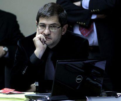 El exapoderado de Madres de Plaza de Mayo, Sergio Schoklender, durante su comparecencia ante el Parlamento argentino.