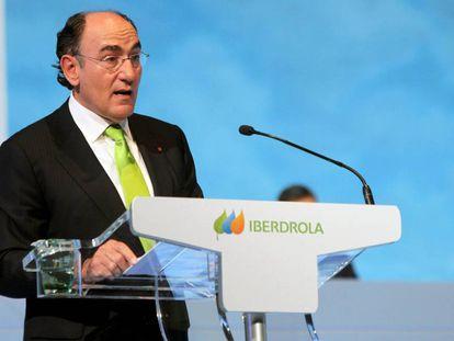 Ignacio Sánchez Galán en la última junta de accionistas de Iberdrola.