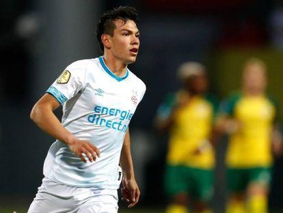 Lozano durante el partido contra el Fortuna Sittard.