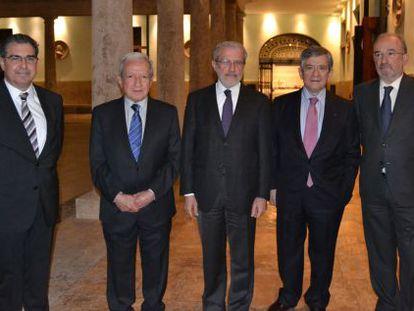 Barón, Sala, Morcillo, Barón y Muñoz Machado, en el Centre Cultural La Nau.