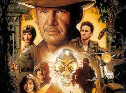 Imagen del cartel de 'Indiana Jones y el Reino de la Calavera de Cristal'