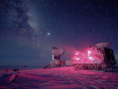 Telescopio en el Polo Sur que ha detectado las ondas.