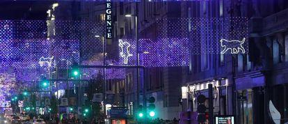 Las luces de Navidad en Gran Vía.