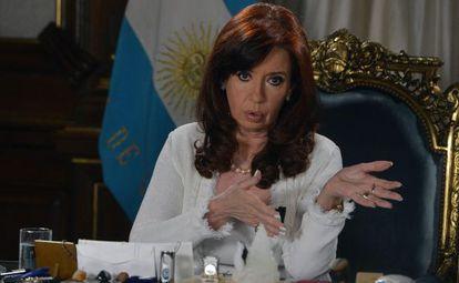 Cristina Fernández, durante su discurso este martes.
