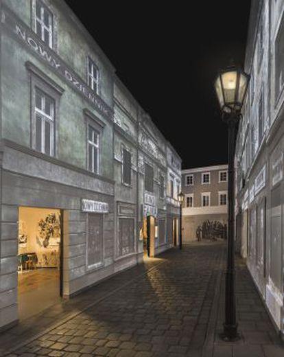 Pieza que se exhibe en el Museo de Historia de Judíos Polacos, en Varsovia.