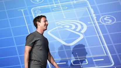 Mark Zuckerberg, fundador de Facebook, durante su intervención en Barcelona en 2014.