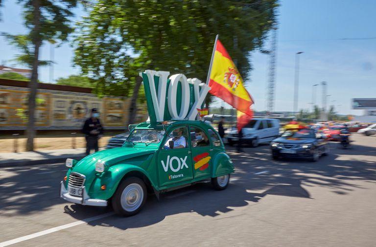 Manifestación convocada por Vox en Talavera de la Reina el pasado 23 de mayo.
