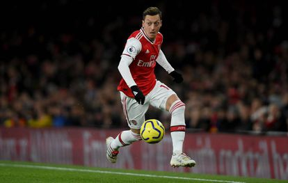 Mesut Özil, en un partido del Arsenal en diciembre pasado