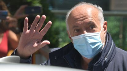 José Luis Moreno sale de la Audiencia Nacional tras quedar en libertad el pasado 1 de julio.