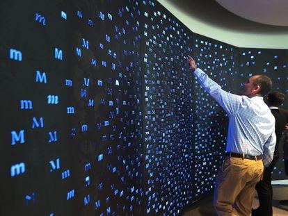 El consejero delegado de Monotype, Scott Landers, en las oficinas de la firma en Woburn (EE UU).