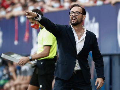 José Bordalás, durante el Osasuna-Valencia.