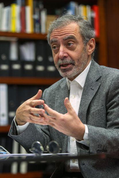 Manuel Borja-Villel, durante la entrevista.