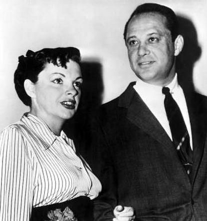 Judy Garland y Sid Luft en 1952.