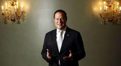 El presidente de la República de Panamá, tras la entrevista.