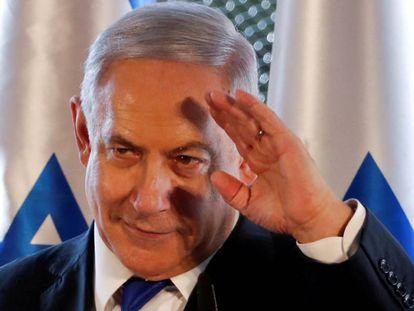 El primer ministro israelí, Benjamín Netanyahu, en un acto de campaña en Hebrón el 4 de septiembre.