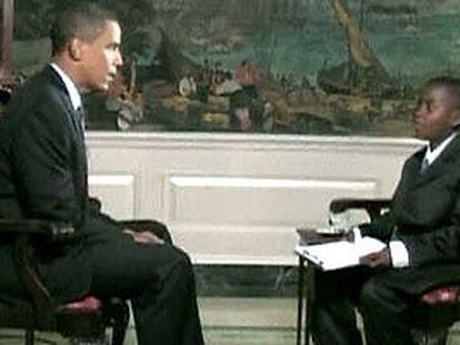 Obama, entrevistado por un niño de 11 años