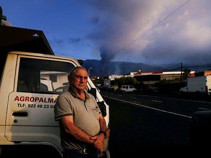 Agustín Álvarez, uno de los afectados por el volcán de La Palma, el miércoles.
