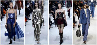 Tul, brillos, vestidos cortos y vaqueros, en la colección de primavera/verano 2018 de Dior.