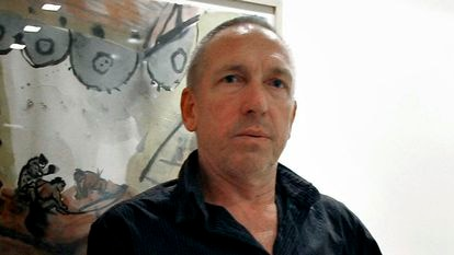 Jürgen Müller, actor de La Fura de les Baus fallecido este viernes, en 2007, cuando se presentó 'Imperium'.