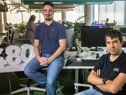 Alfredo R. Cebrián y Sergio Aguado (derecha), fundadores de 480.
