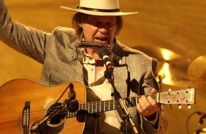 Neil Young, cantante y guitarrista canadiense, en el festival Primavera Sound '09 de Barcelona.