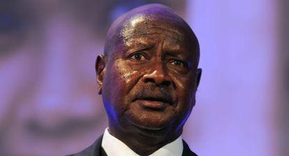 El presidente de Uganda Yoweri Museveni.