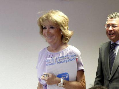 Esperanza Aguirre y Francisco Granados, en octubre de 2011.