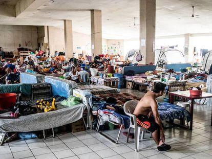 Un refugio de damnificados en Guatemala.