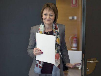 La rectora de la Universidad Valencia, Mavi Mestre, este viernes.