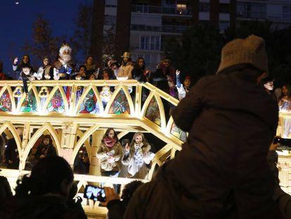 Una cabalgata de Reyes en Madrid.