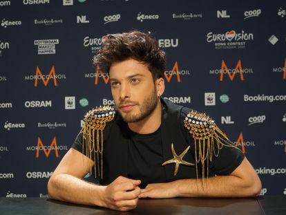 Blas Cantó, representante de España en el Festival de Eurovisión 2021, esta semana en Róterdam (Países Bajos), donde se celebra la edición de este año.