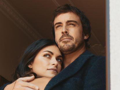 Fernando Alonso y Linda Morselli, en una imagen del documental 'Fernando' de Amazon Prime Video.