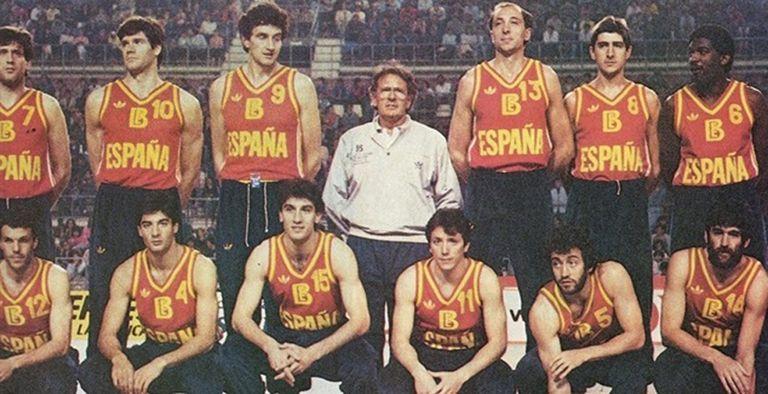 Díaz Miguel, al frente de la selección española en 1983