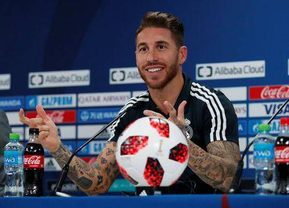 Ramos, durante la rueda de prensa previa a la final del Mundial de Clubes.