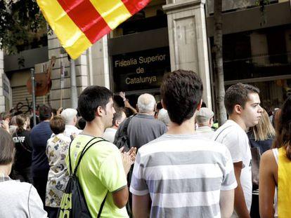 Concentración ante la Fiscalía Superior de Cataluña.
