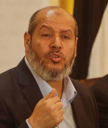 Jalil Hayya, jefe adjunto de Hamás en Gaza, el 18 de abril en Gaza.