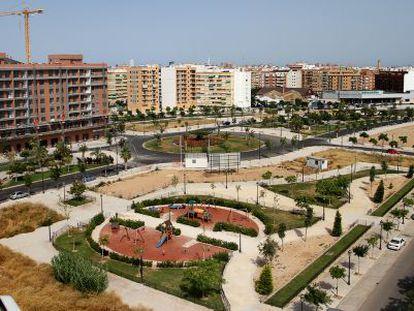 Una vista de los terrenos del PAI de Patraiz, en Valencia.