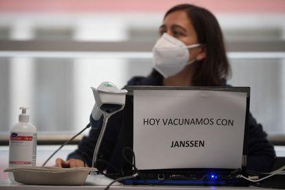 Vacunación en el Wizink Center de Madrid el pasado 21 de mayo.