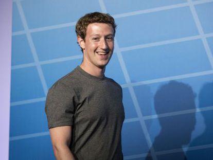 Zuckerberg, el lunes, en su intervención en el Mobile World Congress.