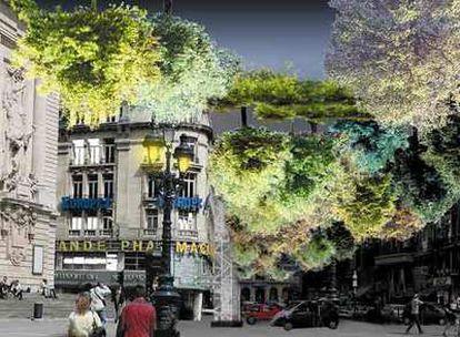 Instalación del grupo Lucie Lom en Lille, cuando la ciudad fue capital europea de la cultura en 2004.
